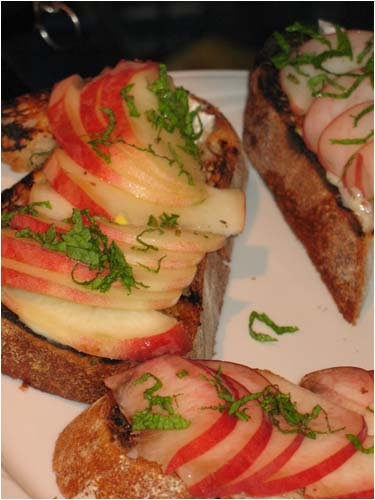 White Peach Bruschetta