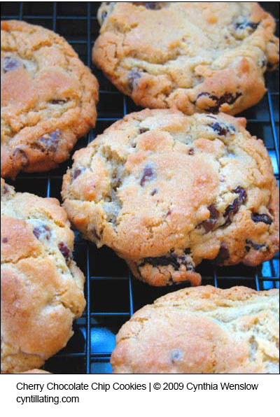 Cherry Chocolate Chip Cookies by Cynthia Wenslow