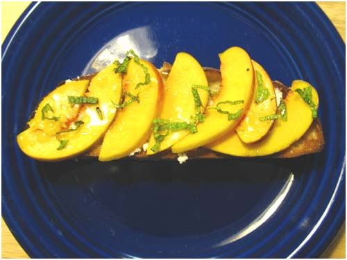 Texas Peach Bruschetta