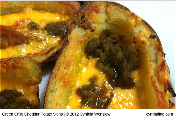 Green Chile Cheddar Potato Skins by Cynthia Wenslow