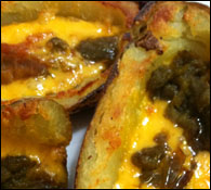 Green Chile-Cheddar Potato Skins