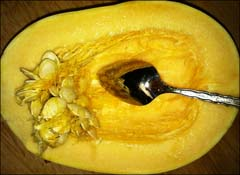 TIP: How to Easily Clean Seeds from Squash