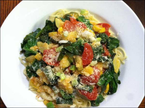 CSA Vegetable Pasta by Cynthia Wenslow