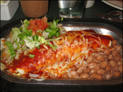 Plaza Cafe Breakfast Burrito by Cynthia Wenslow