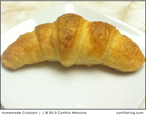 Homemade Croissant by Cynthia Wenslow